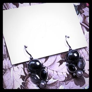 Hematite Mooonstone Earrings